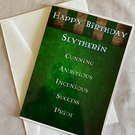 Harry Potter Slytherin Birthday Card