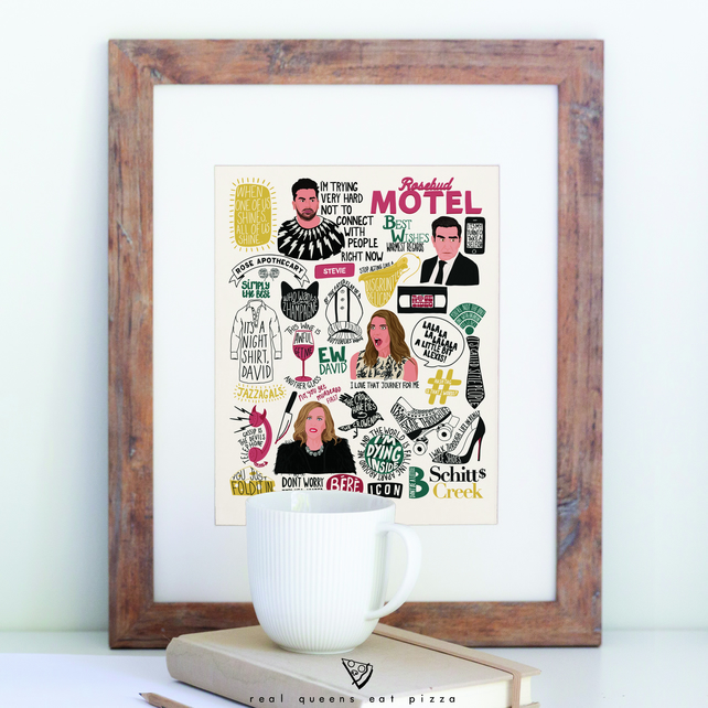 Schitt's Creek digitally illustrated fan art print
