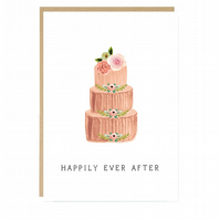Happily Ever After Wedding Cake Card