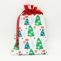 Christmas Gift Bag, Luxury Gift Bag, Drawstring, Eco-Friendly