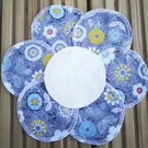 Reusable Cleansing Face wipes, make-up remover pads Grey flowers.