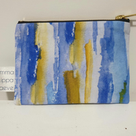 Blue Waterfall Large Coin Purse