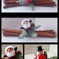 Cinnamon sticks with Santa or Snowman!! Perfect for christmas table centerpiece