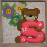 Framed babies initial
