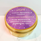 Beeswax Candle with Organic Lavender