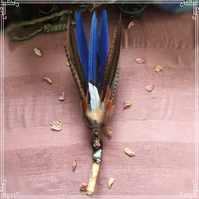 Handmade Ceremony Smudge fan with Ruby in Fuchsite