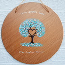 Personalised Wooden Family Tree of Life Plaque