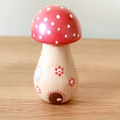 Wooden toadstool fairy house
