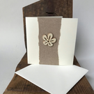 Pack of 4 mini notecards - rustic flower