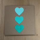 3 Tone Heart Card - in green