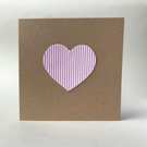 Simple light pink heart