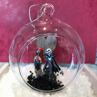 Jack & Sally Glass Bauble