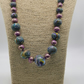 Marbled, handmade bead, statement necklace.