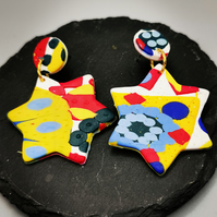 Retro Design, Star Earrings