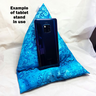 Blue turtle Tablet device stand, iPad stand, Kindle, phone pillow