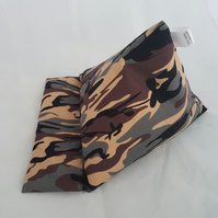 Combat , army, camouflage Tablet device stand, iPad stand, Kindle, phone pillow