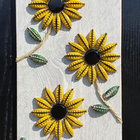 Bottle cap craft flower art