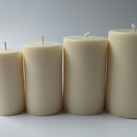 Natural Rapeseed Pillar Candle, 60mm