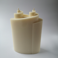 Natural Rapeseed Candle `double spiral`