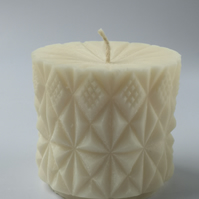 Natural Rapeseed Candle `Diamond Drum`