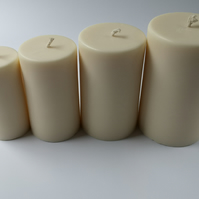 Natural Rapeseed Pillar Candle, 80mm