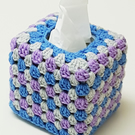Hand crochet tissue box cover