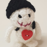 Mini voodoo doll with rucksack & heart
