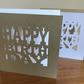 Happy Birthday card, white or kraft card with envelope medium size card