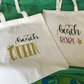 Tote Bags, with slogans on in organic cotton 6oz tote bags with vinyl writing on