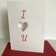 Valentine's Day cards Heart cards with red envelope handmade A6