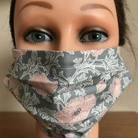 Adult face cover in Liberty of London print fabric The Winterbourne Collection
