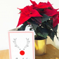 Cryptic crossword Christmas reindeer card, range of themes to choose from