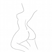 Female Form Free Line Drawing