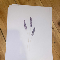 Lavender Watercolour Painting Print (9.5 x7.5 in)