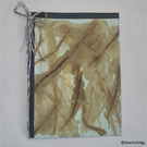 Handmade paper card - Card with coffee painting series - 5