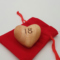 Personalise with any age birthday 3D wooden heart