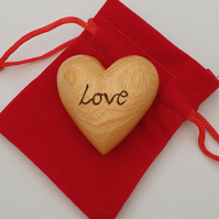 Personalise with any word or name wooden love heart