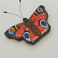 Peacock butterfly hand painted fridge magnet