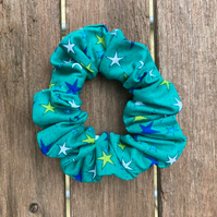 Starry turquoise Scrunchie