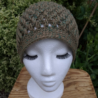 Hand Crochet Merino and Cashmere Hat