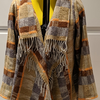 Blanket Coat Jacket Wool and Cotton mix