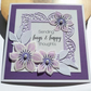 Handmade Purple Hugs & Happy Thoughts Card