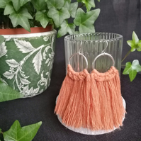 Sterling silver tassel earrings - round