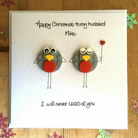 Personalised LEGO ® Robin Christmas Card for your Husband Boyfriend Partner Dad