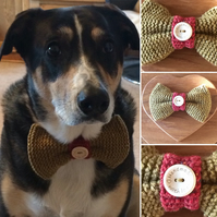 Doggy Bow Tie Pure Wool Large