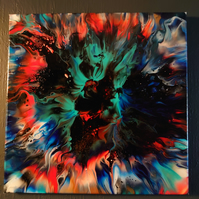 Tie dyed effect canvas