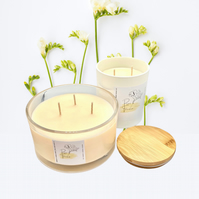 Large 3 Wick Scented Soy Cream candle - 7 scents