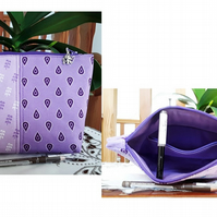 Eta pouches, cosmetic bags, personal accessory bags