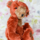 Felicity fairy bear, hand sewn collectible teddy bear with wings