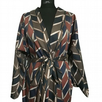 Classic 70s Print Unisex Hand Made UK Robe Original One Of A Kind Couture